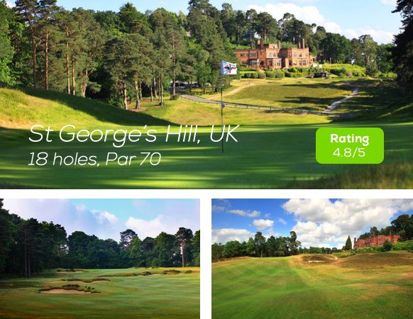 Hole19 - St Georges Hill Golf rating