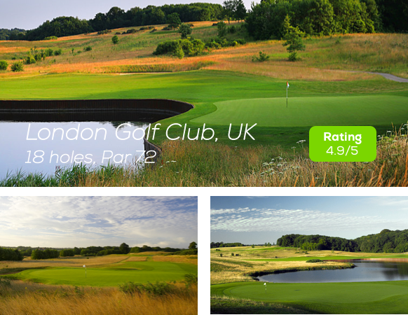 Hole19 - London Golf Club Course rating