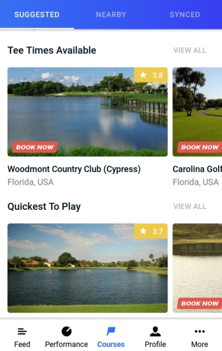 Hole19 Course Collections - Quickest To Play & Tee Times Available
