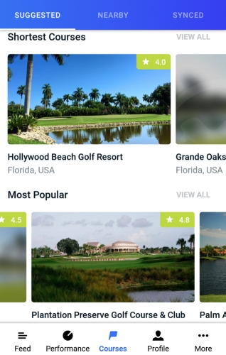 Hole19 Course Collections - Shortest & Most Popular Courses
