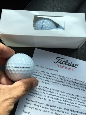 Testing Letter for the Pro V1