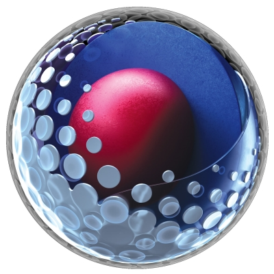 The Pro V1x golf ball structure