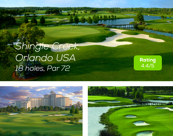 Hole19 - Shingle Creek Golf Course Orlando rating