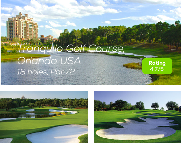 Hole19 - Tranquilo Golf Course Orlando rating
