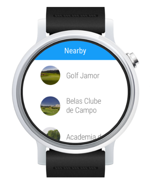 Hole19 Golf GPS for Smartwatch course list