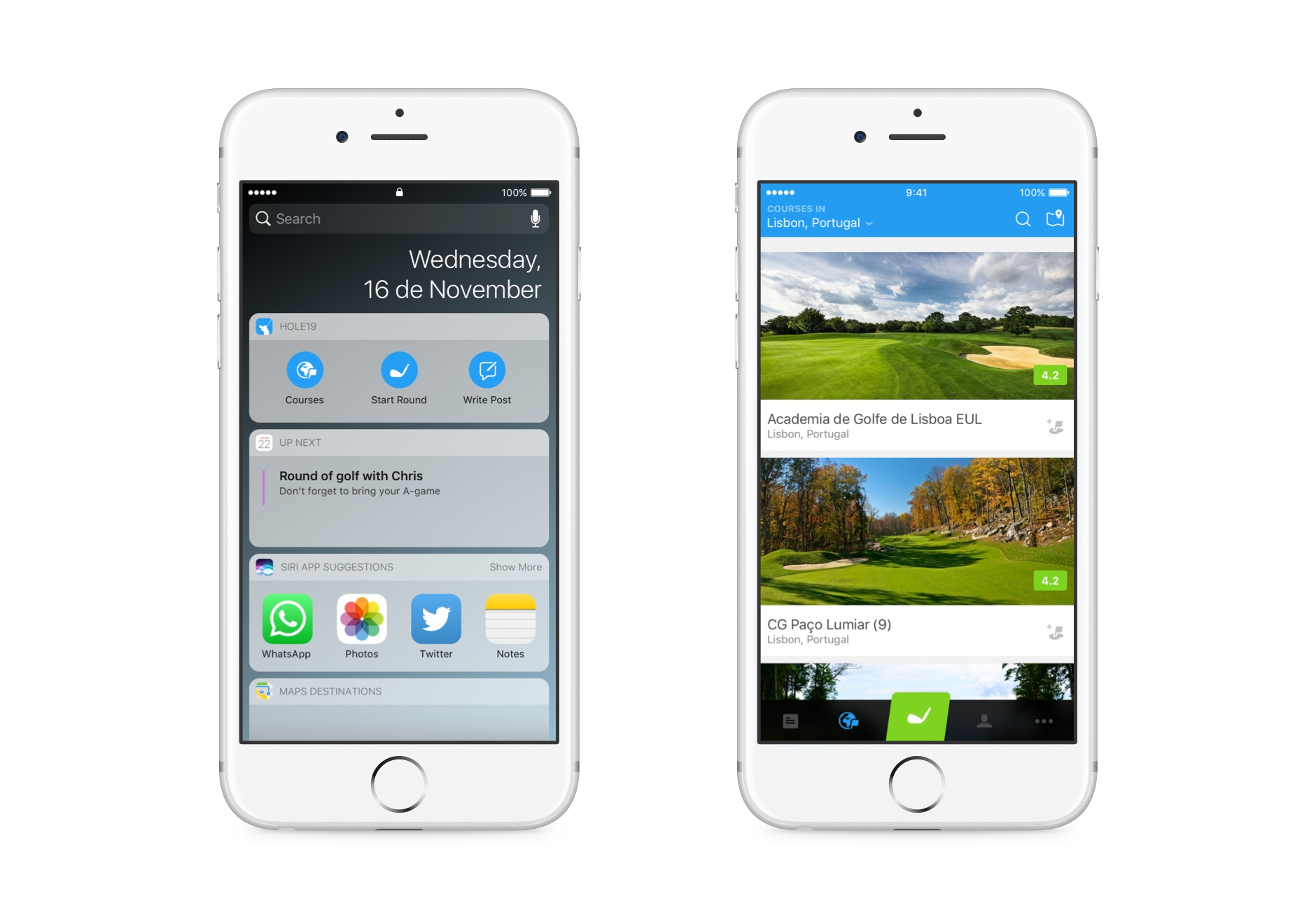 Hole19 Widget for iOS is back and improved!