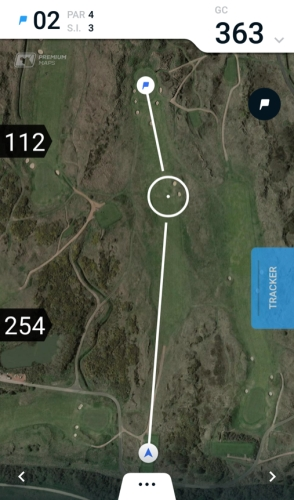 2nd Hole Royal Birkdale - Hole19 Premium Map